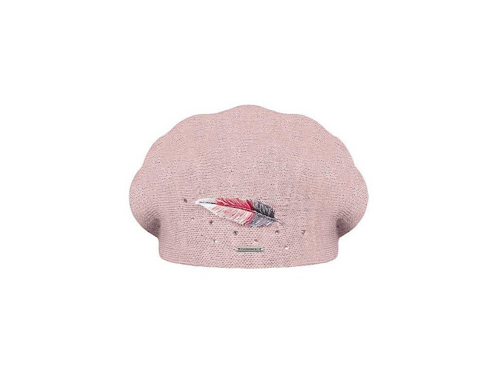 damsky vlneny baret inka ruzova