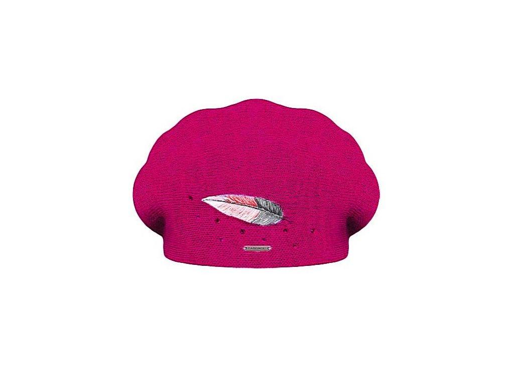 damsky vlneny baret inka fuchsia