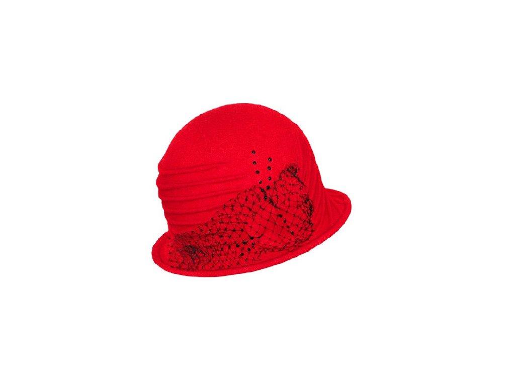 damsky vlneny klobouk jocelyn cervena