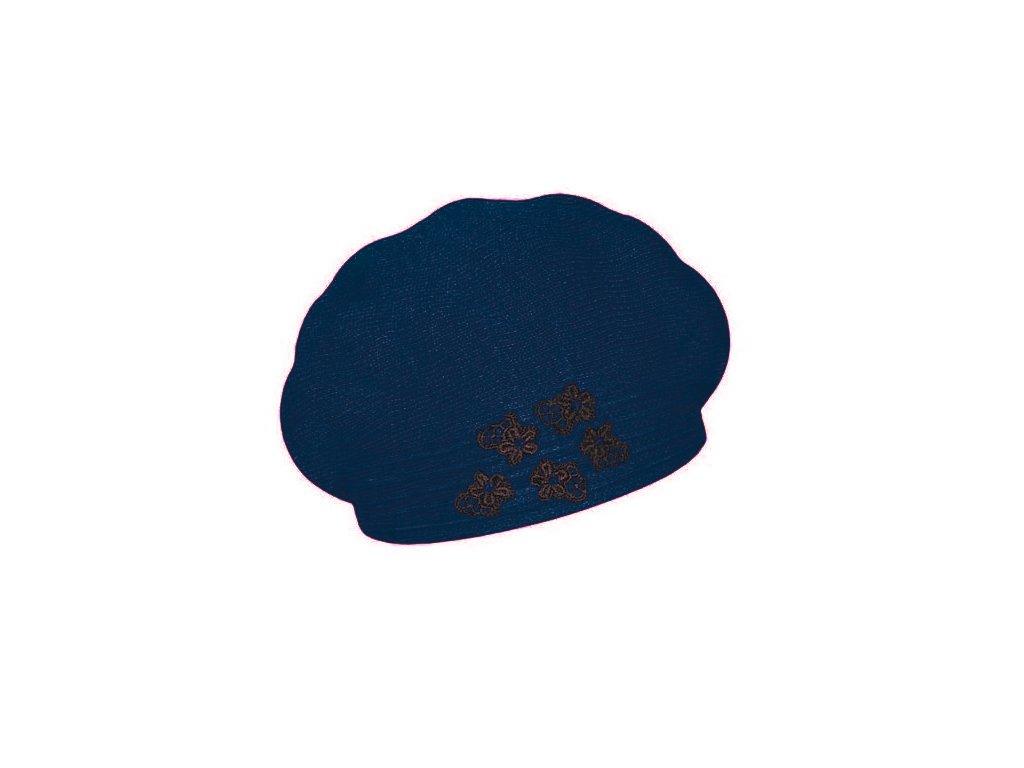 damsky vlneny pleteny baret clarisse modra
