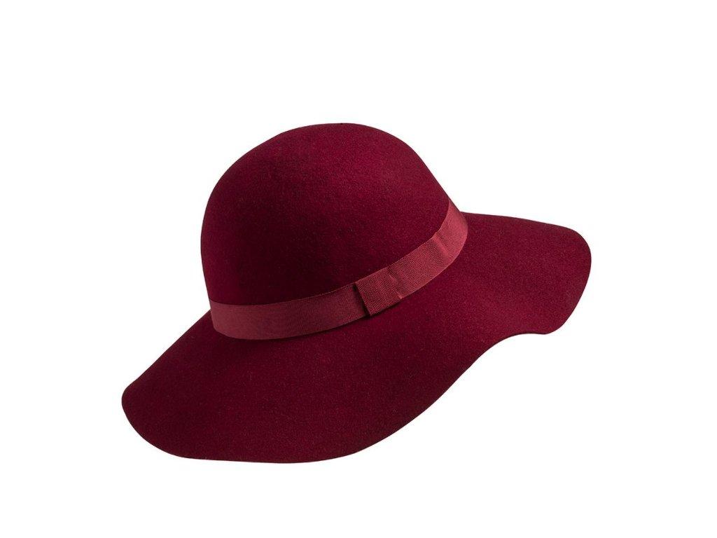 damsky plsťový klobouk laura bordo