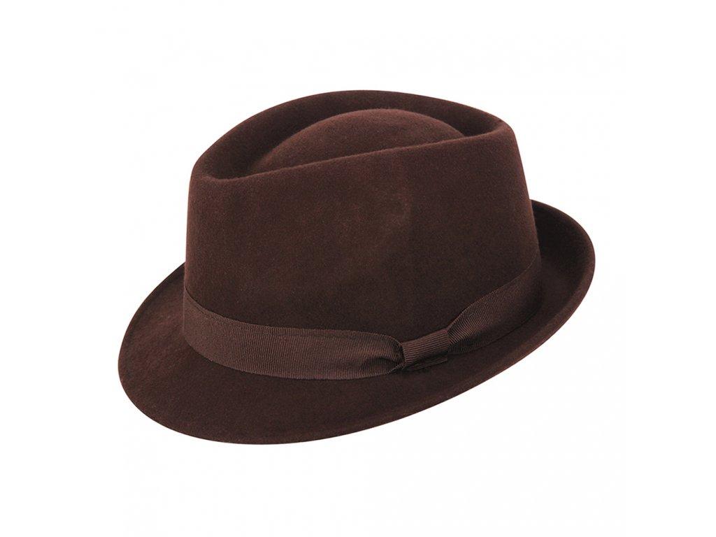 pansky vlneny klobouk dorian hneda