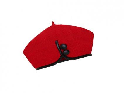 Dámský vlněný baret Catherine červený