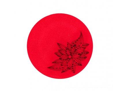 damsky vlneny baret fabiola cervena