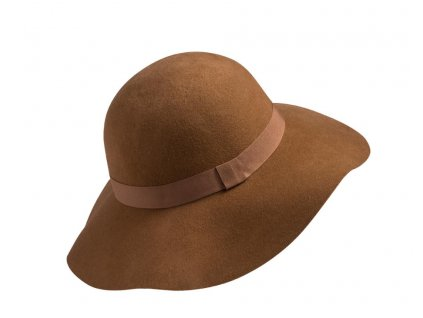 damsky plsťový klobouk laura hneda