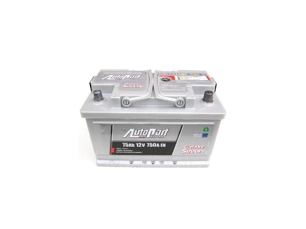 Autobaterie Galaxy Silver 75 Ah 12V, 276x175x175 mm