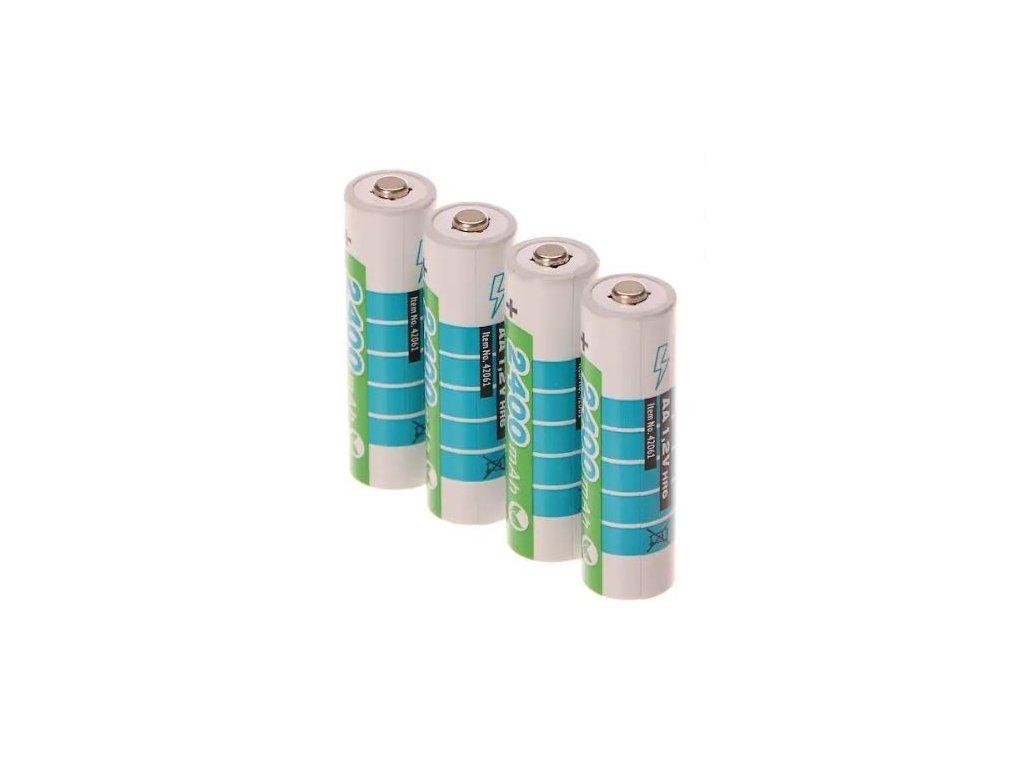 Baterie nabíjecí 1,2V AA (HR6), 2400mAh, NiMh, 4 kusy - EXTOL ENERGY EX42061