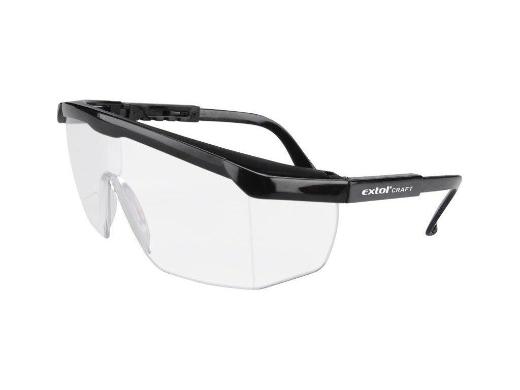 Brýle ochranné, čirý zorník třídy F, nastavitelné, EN 166 EXTOL CRAFT