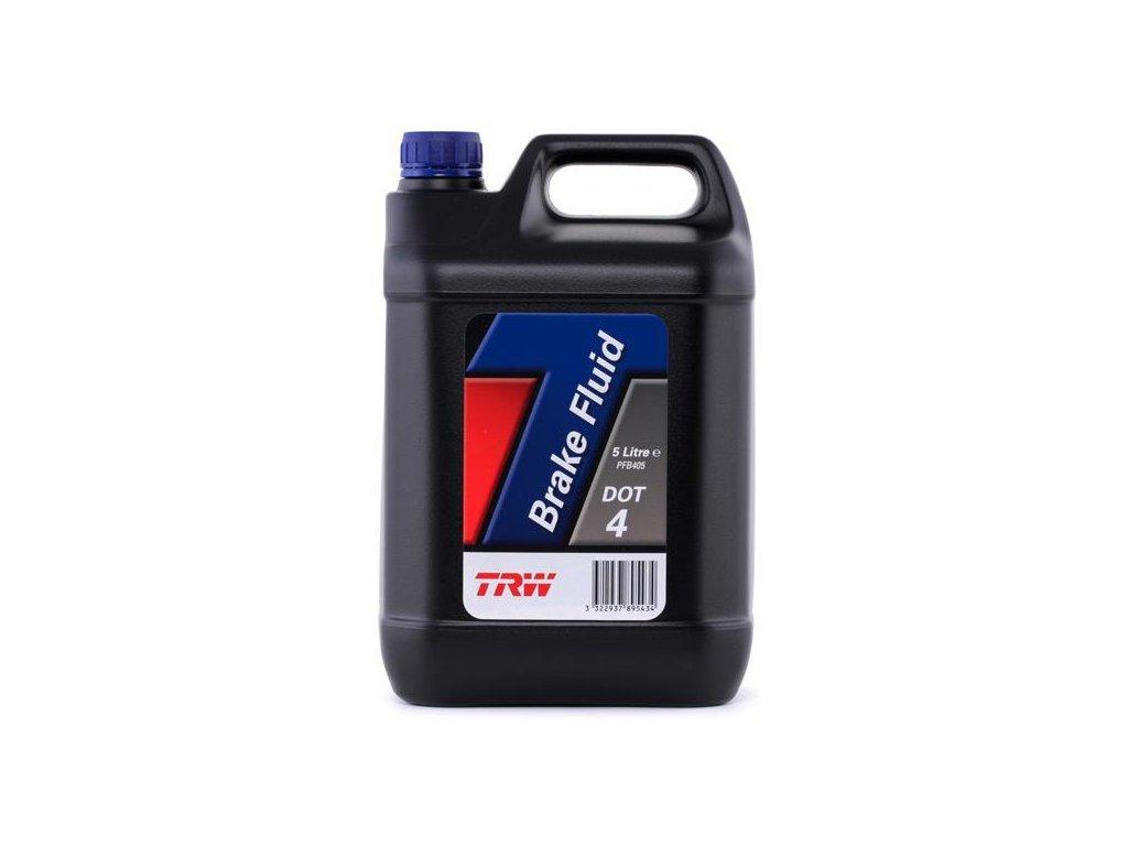 Brzdová kapalina DOT 4, obsah 5 litrů - TRW PFB405