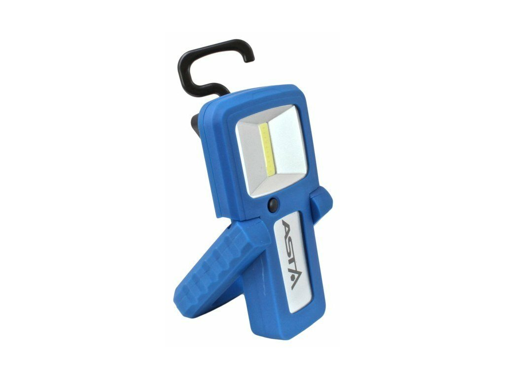 Dílenská montážní lampa LED COB 2W, nabíjecí micro USB, s magnetem a otočným hákem - ASTA