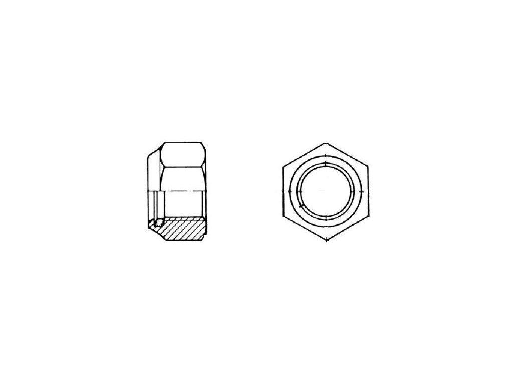 Matice 6hranné samojisticí DIN 985, pozinkované, různé rozměry