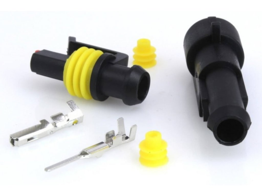 Elektrický konektor vodotěsný, tzv. štekr, jednokontaktový, 1P/1,5 - ASTA