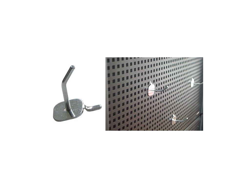 Háček k zavěšení nářadí k dílenskému vozíku, délka 4 cm - Fixman