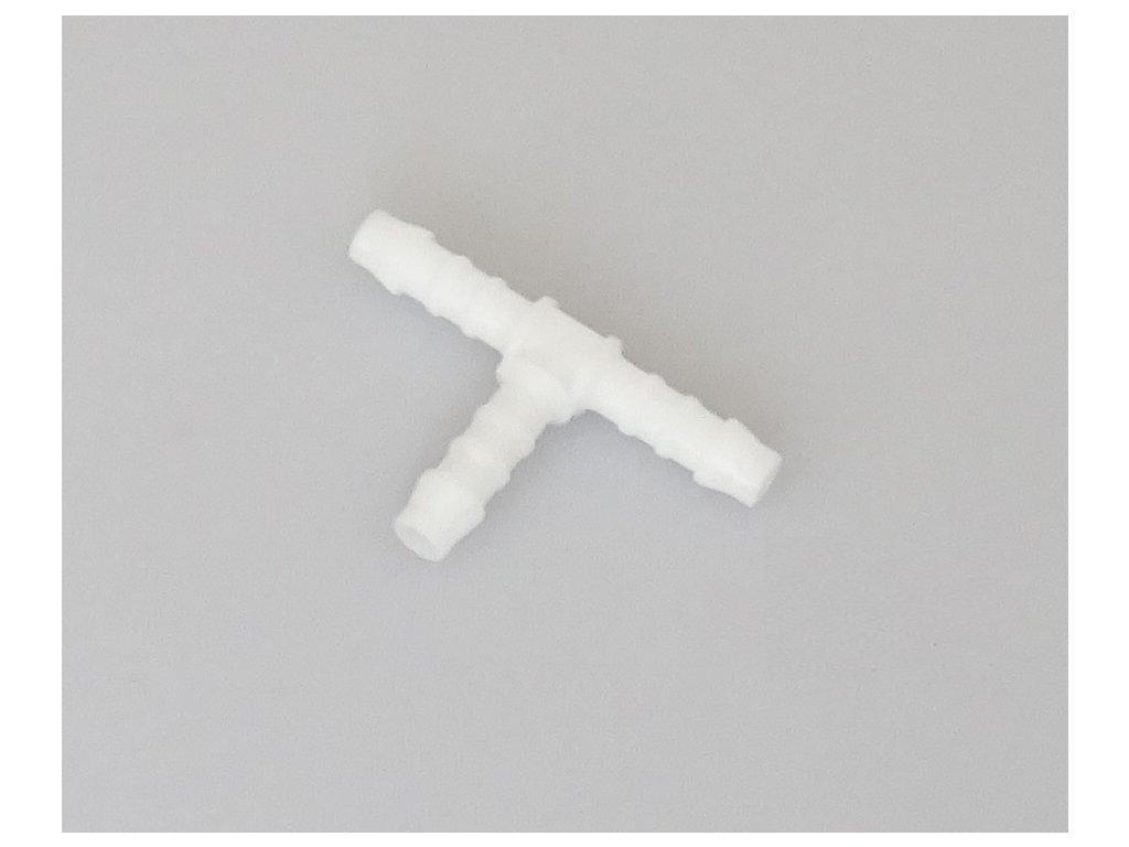 Hadicová spojka - rozdvojka plastová tzv. T, průměr 5 mm, univerzální