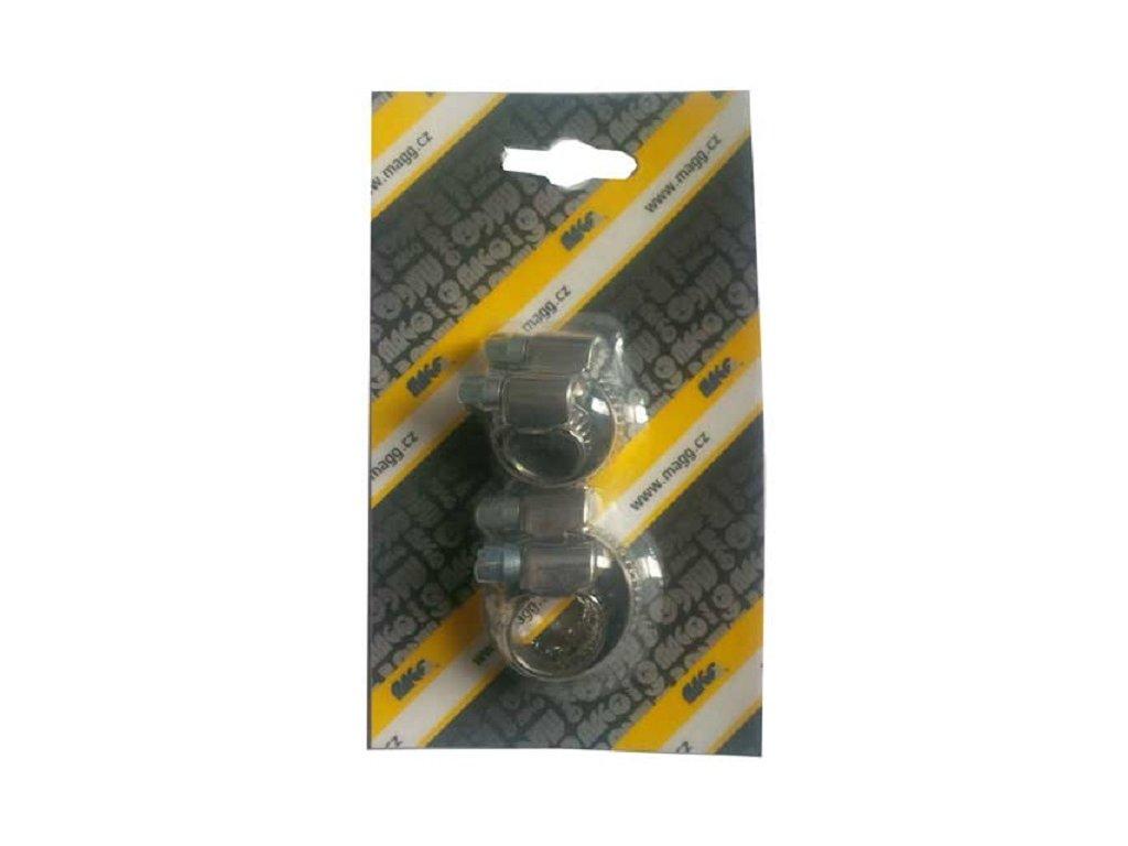 Hadicové spony W2, nerezové, sada velikostí 8, 10, 12, 16 mm - MAGG 110039