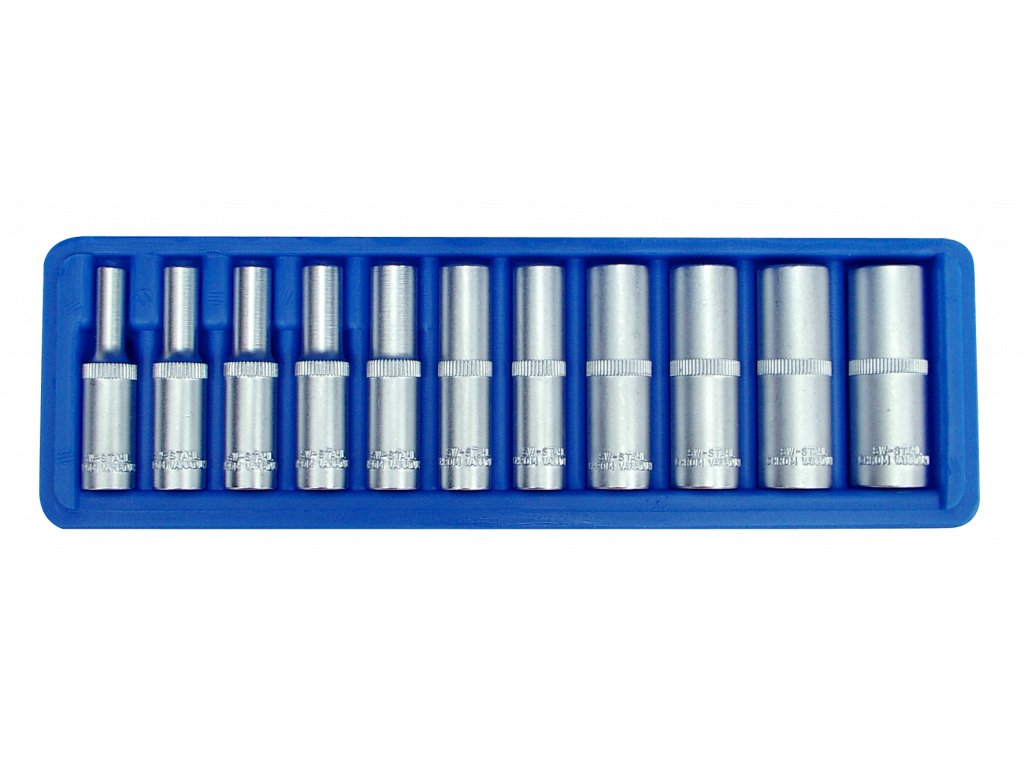 "Hlavice 6-hranné prodloužené 1/4"" 4-13mm 11ks SW-Stahl"