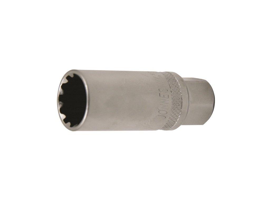 """Hlavice na zapalovací svíčky, 3/8"""", 18mm, multiprofil - JONNESWAY S17H3418"""