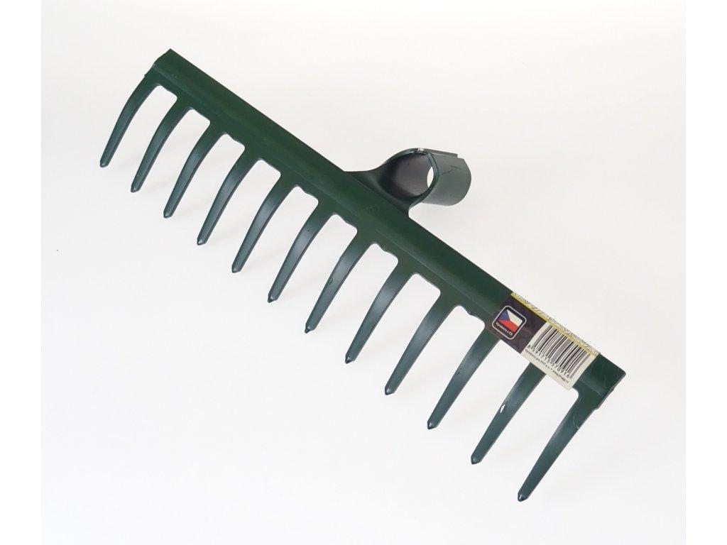 Hrábě zahradní kovové 340 mm, 12 zubů, bez násady