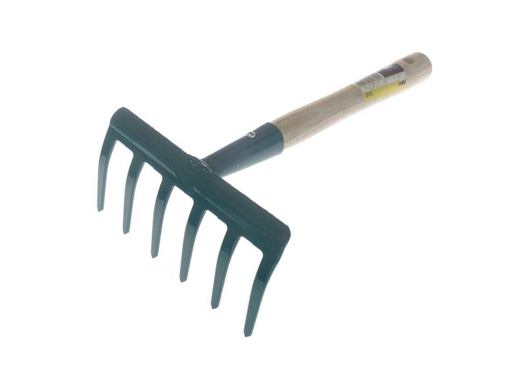 Hrabičky 6 zubů, šířka 16 cm, násada 24 cm