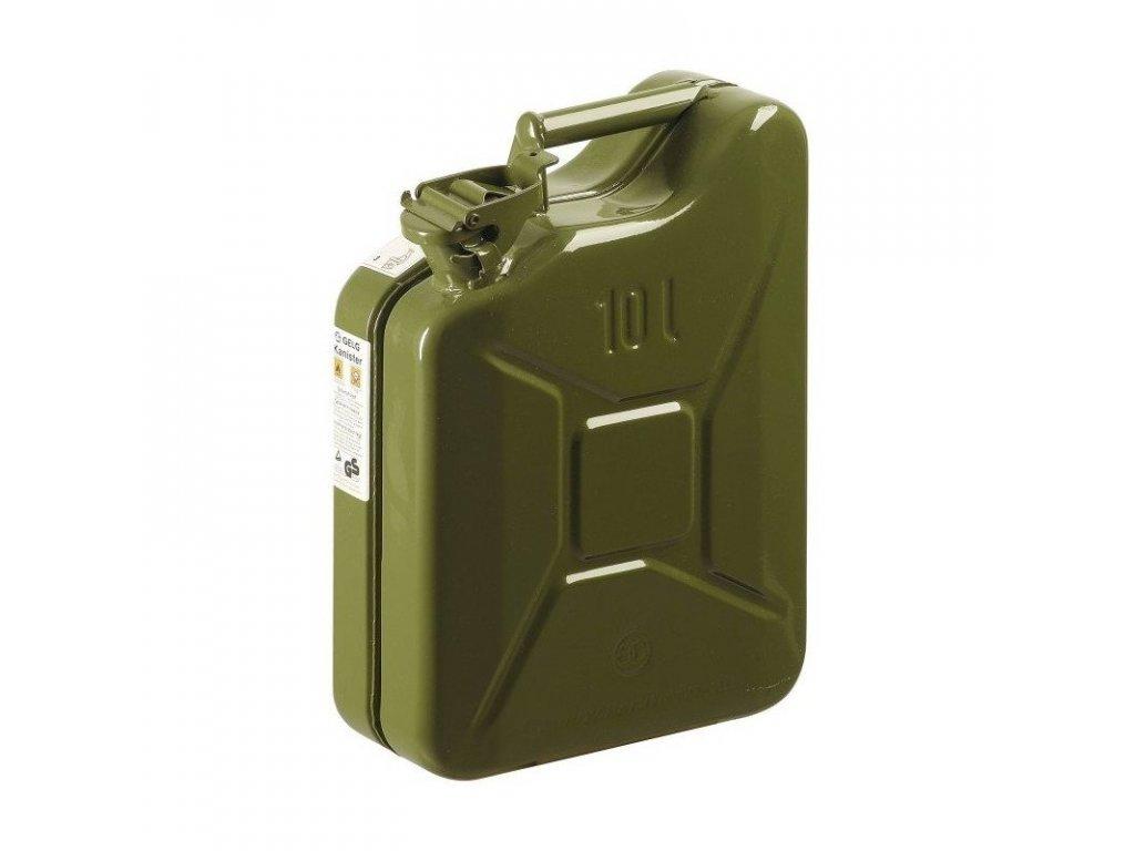 Kanystr kovový - plechový, 10 litrů