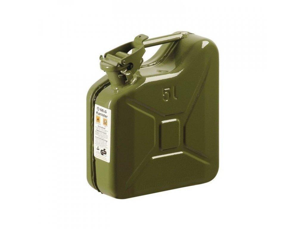 Kanystr kovový - plechový, 5 litrů