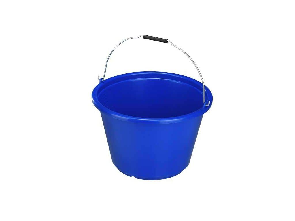 Kbelík plastový, objem 18 litrů, s kovovou rukojetí, modrý