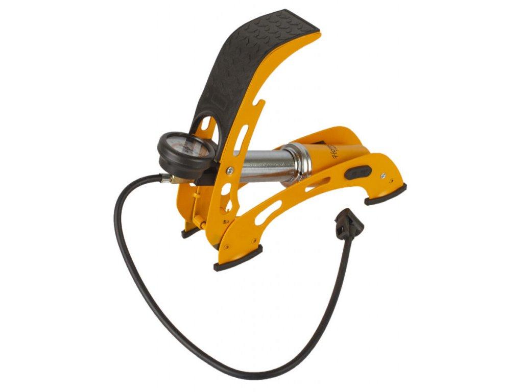 Nožní pumpa s manometrem, husticí adaptéry, zesílená konstrukce - HOTECHE