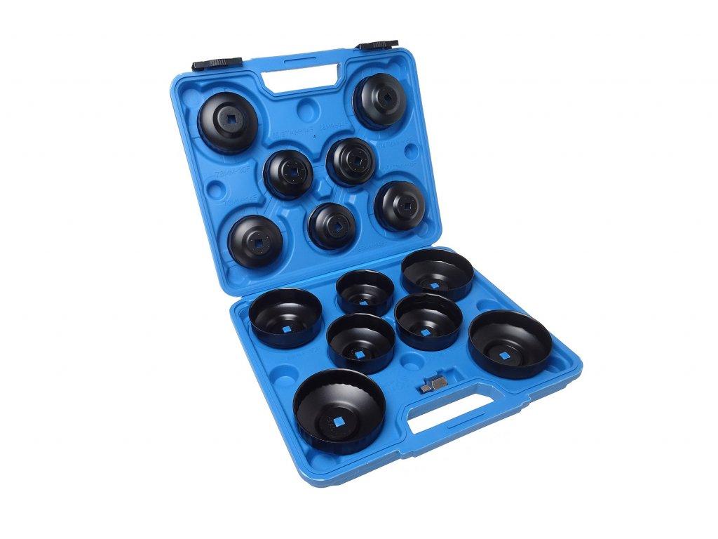Klíče na olejové filtry, sada 15 kusů - QUATROS QS60037