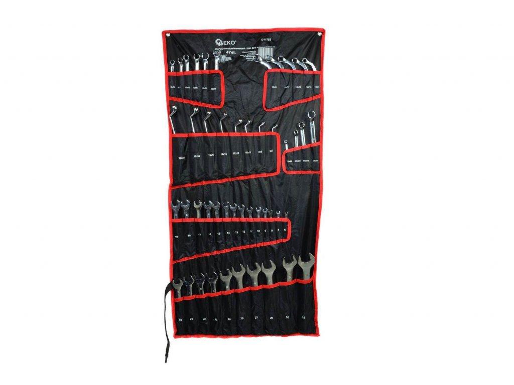 Klíče očkoploché, očkové, na převlečné matice, TORX a C klíče, velká sada 47 kusů