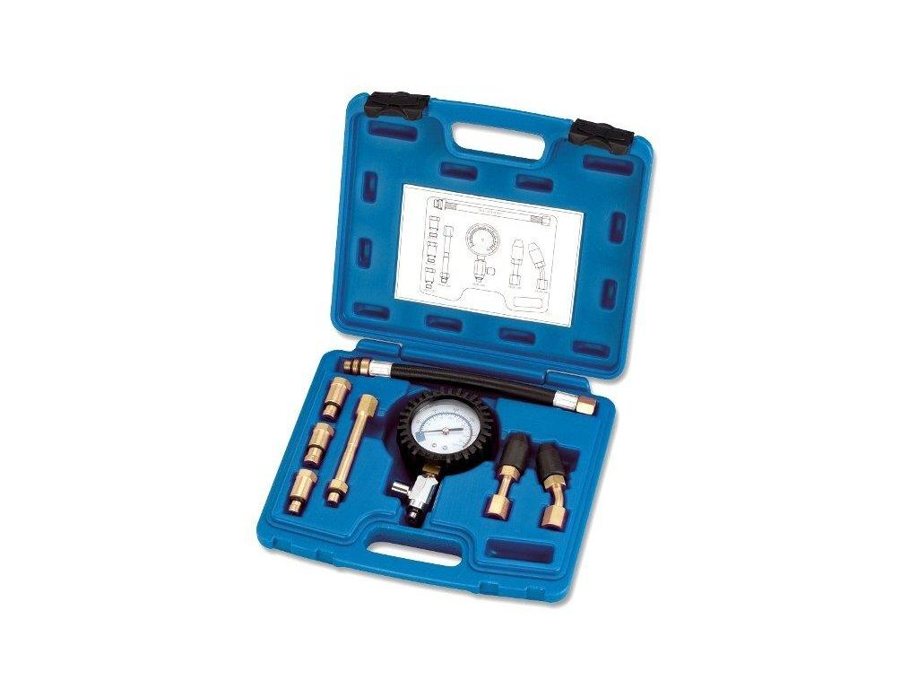 Kompresiometr - tester komprese přes zapalovací svíčku, pro benzinové motory - ASTA