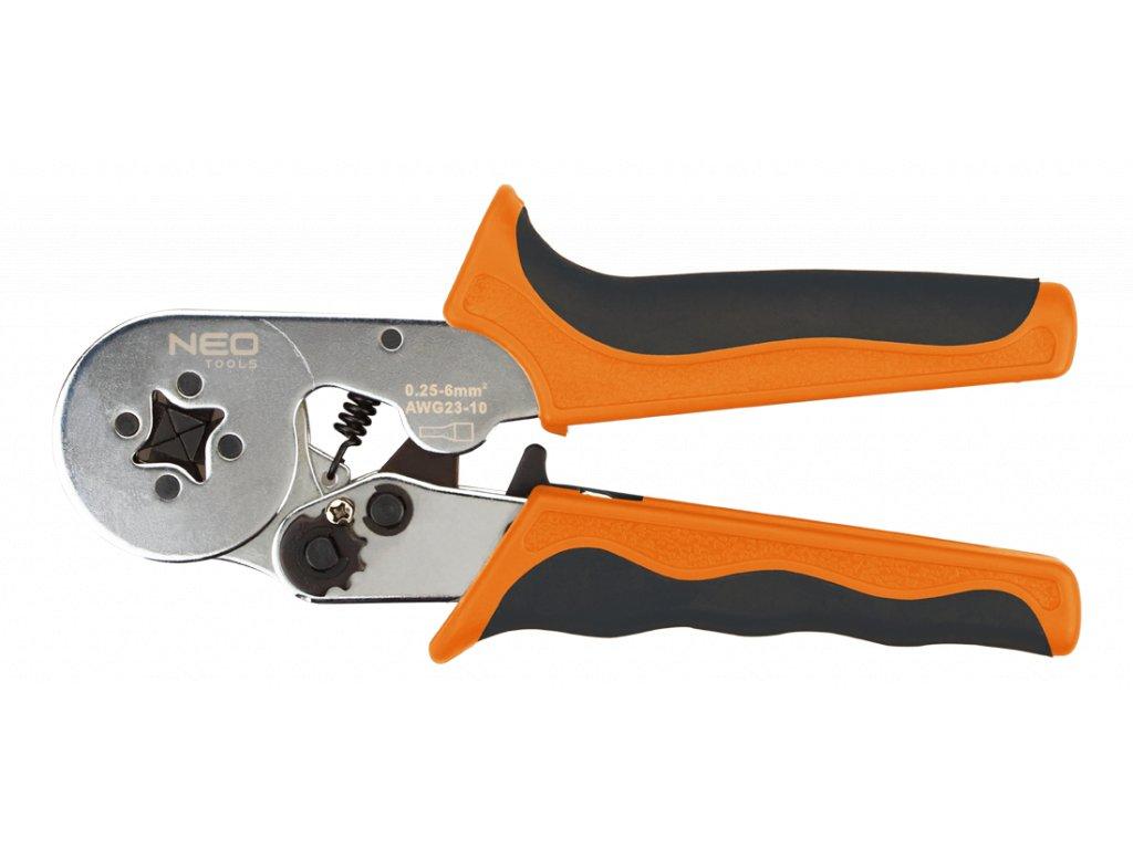 Krimpovací kleště 0.25 - 6 mm2, na dutinky - NEO tools 01-507