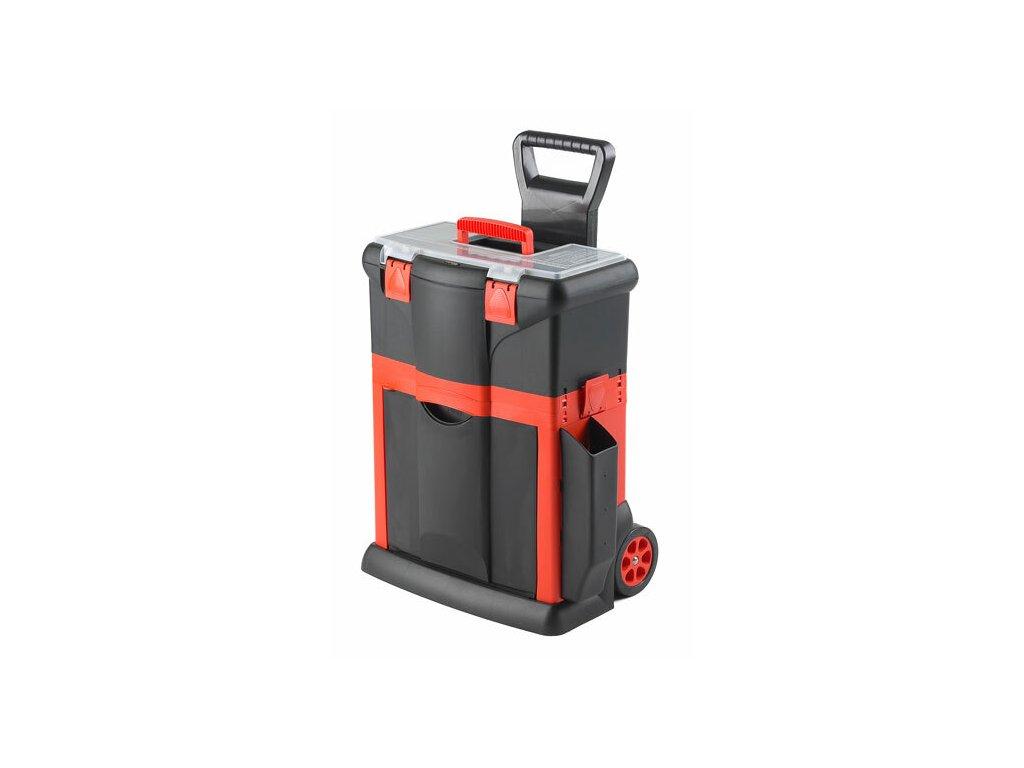 Kufr na nářadí pojízdný, 460 x 330 x 620 mm, tažná rukojeť