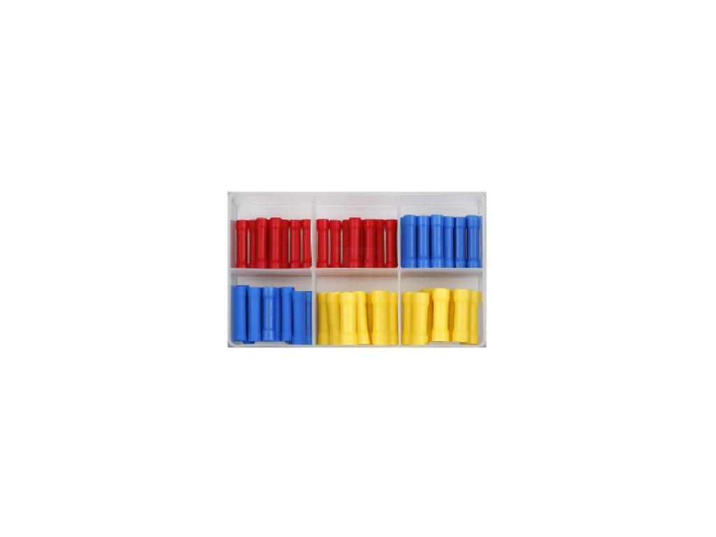 Kulaté zásuvky - dutinky pro spojení konektorů, různé rozměry, sada 100 kusů