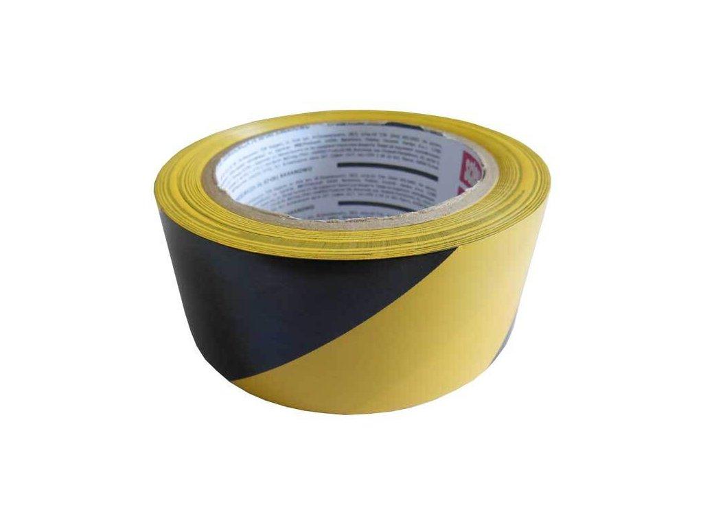 Lepicí páska výstražná, 48 mm x 33 m, žlutočerná