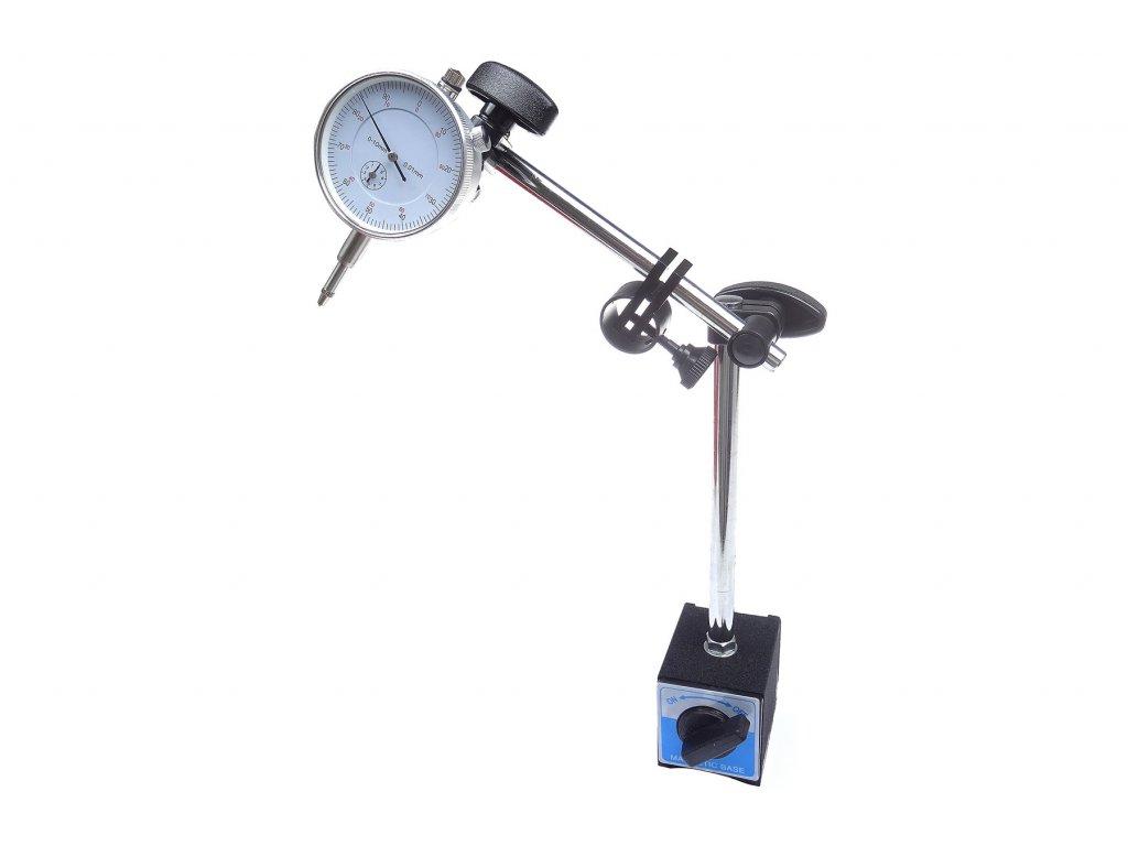 Magnetický stojan, stativ + úchylkoměr - QUATROS QS15511