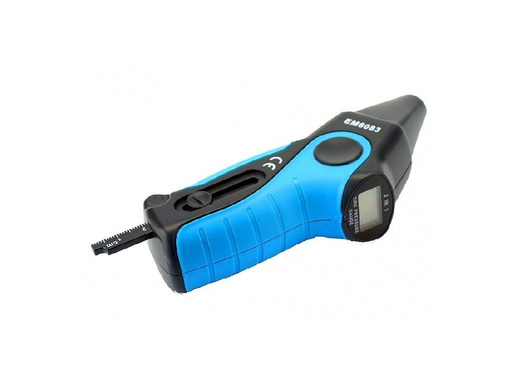 Digitální manometr s měrkou vzorku pneumatik, 0-6 bar - QUATROS QS94604