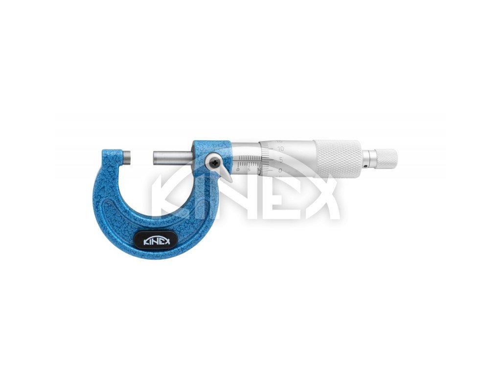 Mikrometr třmenový KINEX - PROFESSIONAL, 0-25 mm/0,01mm