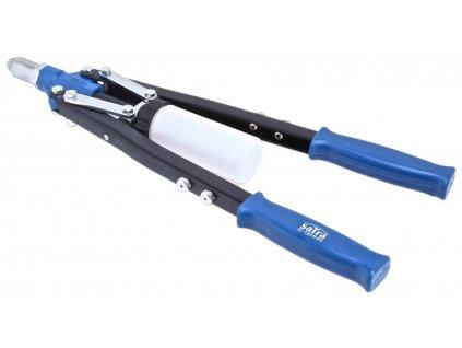 Nýtovací kleště pákové, na trhací nýty 3.2 - 6.4 mm, s adaptéry - SATRA