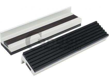Ochranné čelisti na svěrák 100 x 28 mm, hliníkové, pogumované s magnetem, 2 ks - Condor
