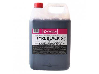 Ochranný a barvicí přípravek na pneumatiky TYRE BLACK 5, objem 5 litrů
