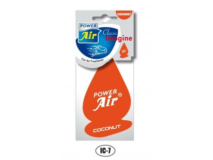Osvěžovač vzduchu papírový - COCONUT