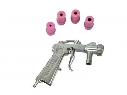 Pískovací pistole s tryskami 4 - 7 mm do pískovačky