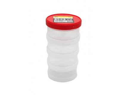 Plastový šroubovací box, kulatý, průměr 9 cm, 4 patra - MAGG 120238