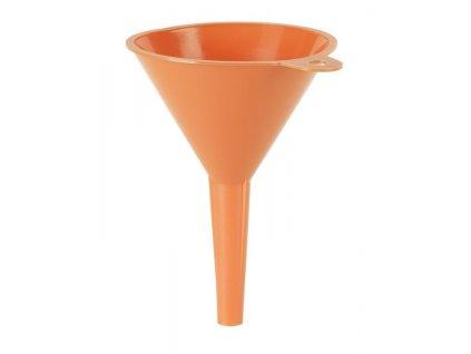 Plastový trychtýř - nálevka, bez sítka, průměr 150 mm, se závěsným očkem - PRESSOL 02 365