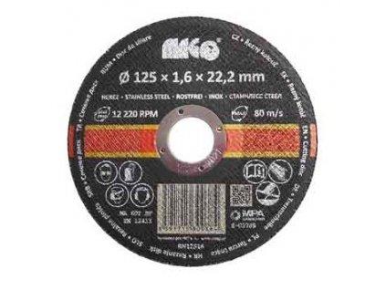 Řezný kotouč na nerez 125 x 1,6 x 22,2 mm MAGG
