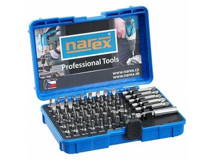 Sada 60 bitů Industrial, ploché, křížové, Imbus, TORX, 60-bit box - NAREX 65404062