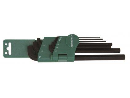 Sada klíčů Imbus, extra dlouhých, nízkoprofilových, H1,5 - H10, 9 ks - JONNESWAY H03SS109S