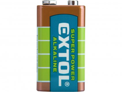 Baterie alkalická 9V, 6LR61 - EXTOL LIGHT EX42016