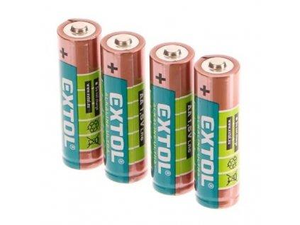 Baterie alkalické ULTRA +, 1,5V AA (LR6), sada 4 kusy - EXTOL LIGHT EX42011
