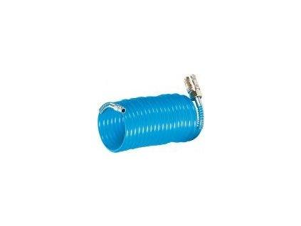 Spirálová hadice, modrá s koncovkami, 7,6 m